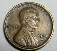 Buy 1934 D Lincoln Wheat Cent
