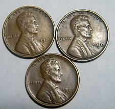 Buy Wheat cent coin LOT 1929 D 1930 D 1931 ADDITIONAL COINS SHIP FREE