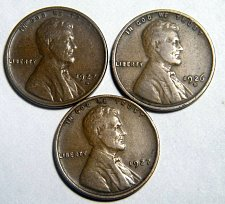 Buy Wheat cent coin LOT 1926 D 1927 D 1927 ADDITIONAL COINS SHIP FREE