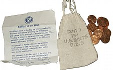 Buy 1973 PDS Mint Lot Lincoln Memorial Pennies with Bag and COA from Bureau of the M