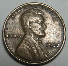 Buy 1933 P Lincoln Wheat Cent  217691  B26