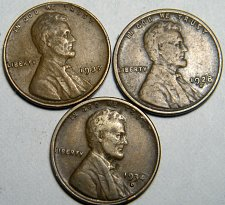 Buy Wheat cent coin LOT 1928 D 1937 1934 D ADDITIONAL COINS SHIP FREE