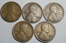 Buy Wheat cent  LOT 1920 D 1917 S 1928 1912 1920 ADDITIONAL COINS SHIP FREE
