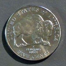 UNC Western Journey 2005 P Jefferson Nickel BU Coin #5501 American Bison