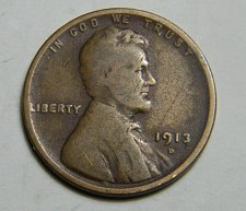 Buy 1913 D Lincoln Wheat Cent C25
