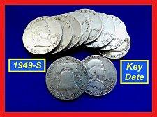 Buy 1949-S FRANKLIN HALF ☆ KEY DATE ☆  (##1001)a