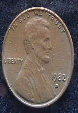 1982 D Lincoln Memorial Penny Zinc - Small Date Coin Value Prices