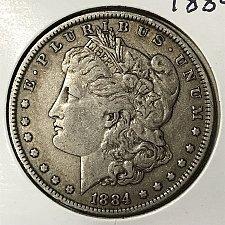 1884 Morgan Silver Dollar Coin Value Prices, Photos & Info