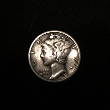 Buy 1937 S Mercury Dime - pretty good quality but not officially graded