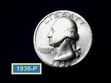 Buy 1936-P ☆ Circulated (F-12) Silver Quarter  ☆ (#2890)a