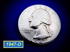 "Buy 1947-D   Washington Quarter ✬ ""Circulated""   ✬★  (#2963)a"