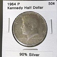 1964 Kennedy Silver Half Dollar 90% Silver Coin Value Prices