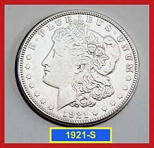 Buy 1921-S Morgan Silver Dollar ☆ Circulated ☆ (#5410)