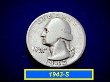 """Buy 1943-S SIlver Quarters ☆  """"Circulated"""" ☆ (#2056)"""