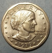 1979 P Susan B Anthony Dollar Wide Rim - Near Date Coin Value Prices