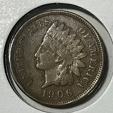 1906  INDIAN  HEAD  CENT #6