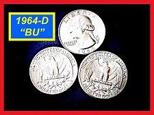 """Buy 1964-D Washington Quarter  ☆  """"Brilliant Uncirculated""""  ☆  (#2894.a)a"""