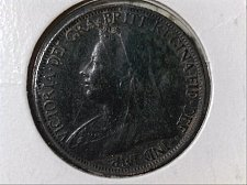 Buy 1898 GREAT BRITAIN QUEEN VICTORIA FARTHING!