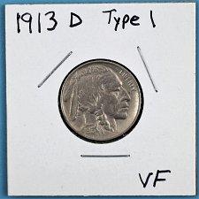 Buy 1913 D BUFFALO NICKEL - TYPE 1