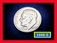 """Buy 1949-S Roosevelt Dimes   ☆ """"VF""""  Condition   ☆   (#3784)a"""