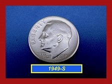 """Buy 1949-S Roosevelt Dimes   ☆ """"VF""""  Condition   ☆   (#3669)a"""