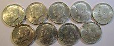 Buy 9  Silver Kenneday Half DollarsPAY PAL, Checks OR USPS Money Orders O K- 4 std.o