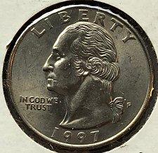 1997 P Washington Quarter Coin Value Prices, Photos & Info