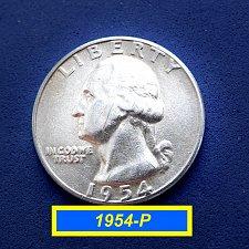 "Buy 1954-P  ""VF"" SIlver Quarters ☆ (#2154.3)a"