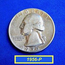 "Buy 1956-P  WASHINGTON QUATER ☆ ""Circulated"" ☆  (#2166)a"