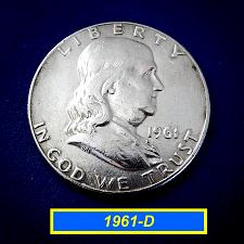 """Buy 1961-D Franklin  ☆  """"CIRCULATED""""  ☆    (#1198)a"""