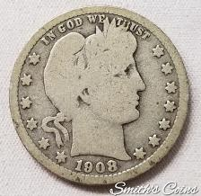 Buy 1908 S Barber Quarter - Good