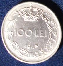 Buy 1943 Romania 100 Lei AU Details
