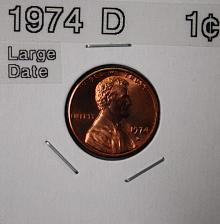 1974 D Lincoln Memorial Penny Coin Value Prices, Photos & Info