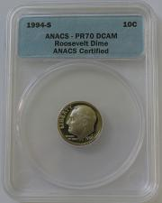 2010-S Roosevelt SILVER Dime ANACS PR70 DCAM  BEAUTIFUL