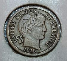 "1915-/""P/"" Barber//Liberty Head Dime"