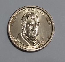 2009 P Presidential Dollar William Henry Harrison Golden