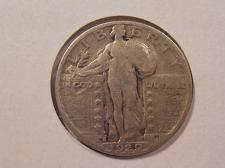 Silver Standing Liberty Quarter 1929-S US Fine