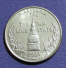 2000 P Maryland State Quarter Coin Value Prices Photos Amp Info