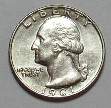 1981 P Washington Quarter Coin Value Prices, Photos & Info