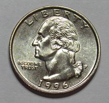 1996 P Washington Quarter   ** FREE SHIPPING**