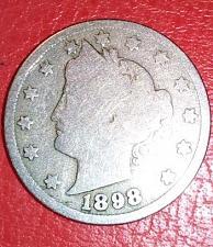 1898 LIBERTY HEAD NICKEL GREAT PRICE! 7-12 GOOD