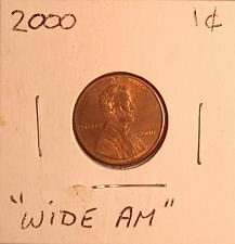 2000 Lincoln Memorial Penny Wide AM Coin Value Prices