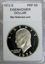 1972-D $1 Eisenhower Dollar Ch BU