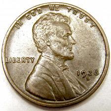 "1928-D LINCOLN WHEAT PENNY IN /""FINE/"" CONDITION"