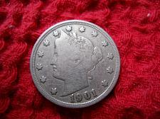 Uncertified EF 1901 Liberty Nickel