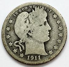 Buy 1911 D  Barber Quarter