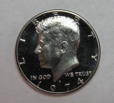NOT ROLL I-11-18 1974-S KENNEDY HALF DOLLAR FROM CAMEO PROOF SET
