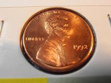 1992-P BU RED Lincoln Cent IN MINT CELLO