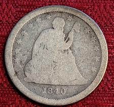 Buy 1840-0 AG SEATED LIBERTY QUARTER