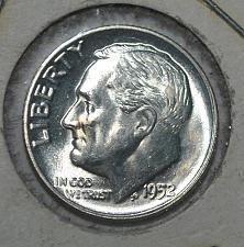 1952 Roosevelt Silver Dime Coin Value Prices, Photos & Info